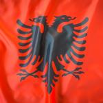 bdr bandeiras e mastros paises albânia impressa