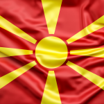 bdr bandeiras e mastros paises macedónia impressa