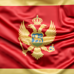 bdr bandeiras e mastros paises montenegro impressa